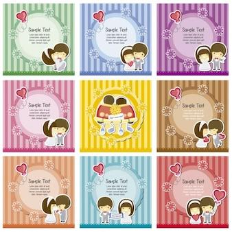 Striped etykiety ślubne