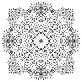 Strona do kolorowania ozdobnej mandali