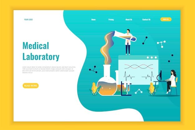 Strona docelowa badań laboratorium medycznego