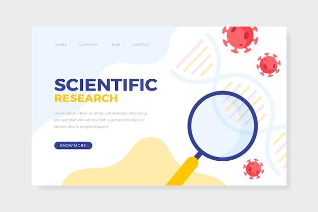 Strona docelowa badań naukowych koronawirusa