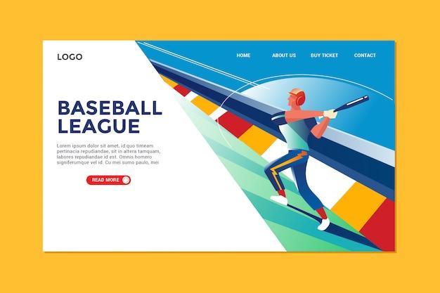 Strona docelowa baseballu