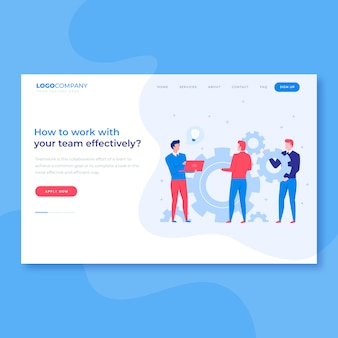 Strona docelowa brainstorm teamwork