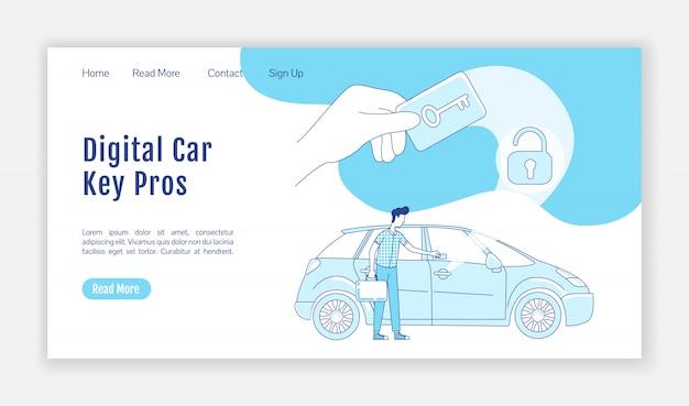 Strona docelowa cyfrowego klucza samochodowego