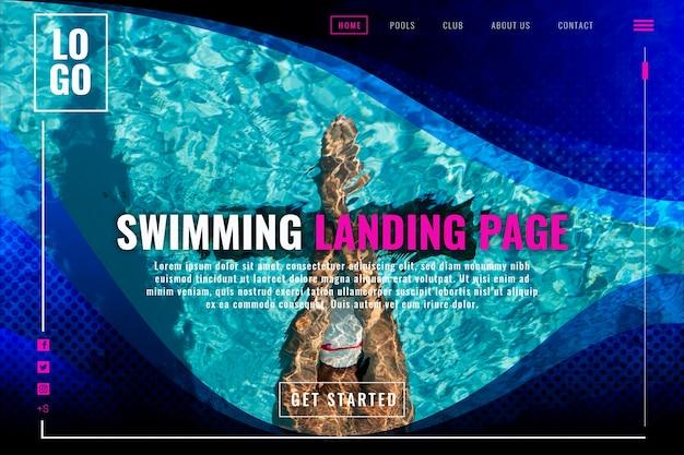 Strona docelowa do pływania