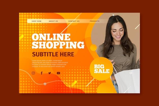 Strona docelowa do zakupów online