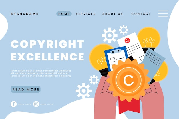 Strona docelowa doskonałości w zakresie praw autorskich