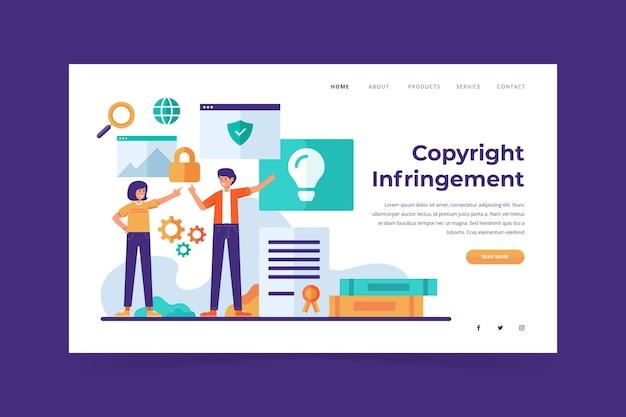 Strona docelowa dotycząca praw autorskich