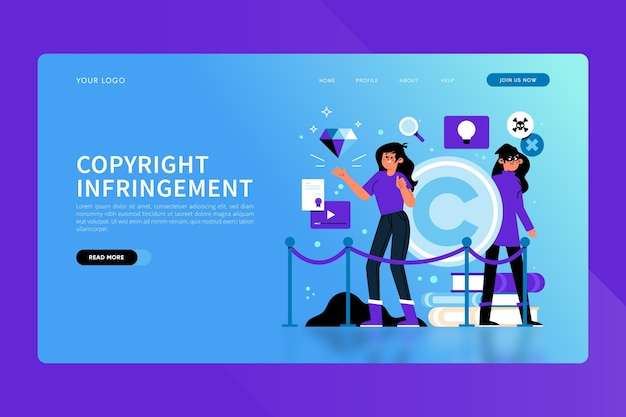 Strona Docelowa Dotycząca Praw Autorskich Darmowych Wektorów