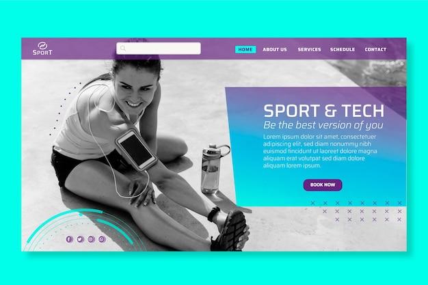 Strona docelowa dotycząca sportu i technologii