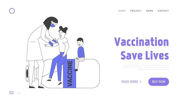 Strona docelowa dotycząca szczepień i procedur szczepień dzieci