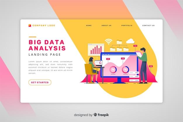 Strona docelowa dużej analizy danych