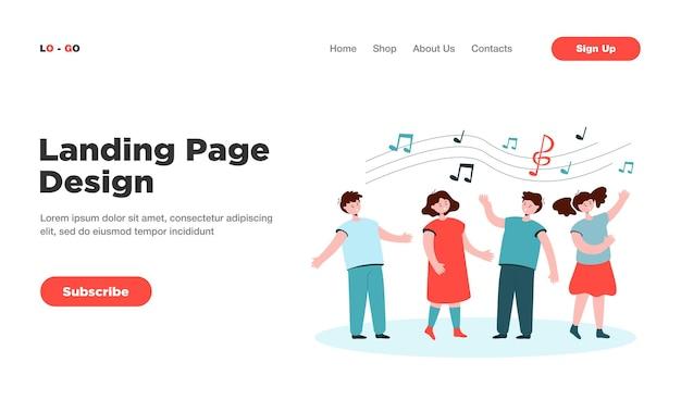 Strona docelowa dzieci śpiewających piosenki