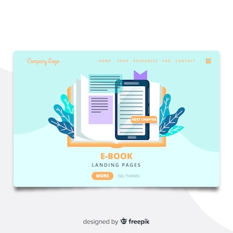 Strona docelowa e-book