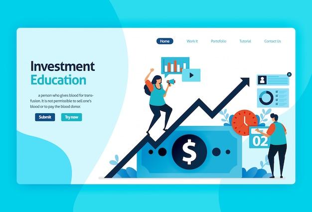 Strona docelowa edukacji inwestycyjnej