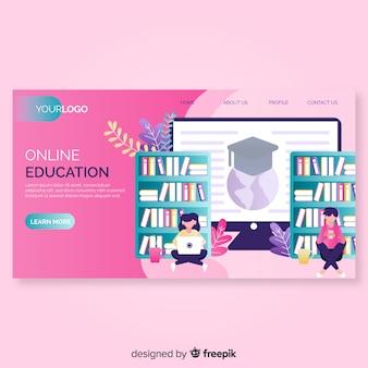 Strona docelowa edukacji online
