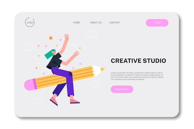 Strona docelowa ekologicznych rozwiązań kreatywnych