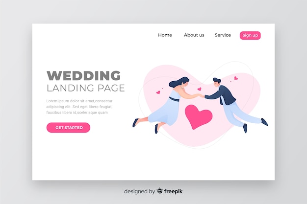 Strona docelowa elegancki ślub