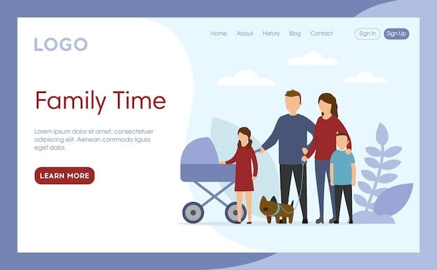 Strona docelowa family time