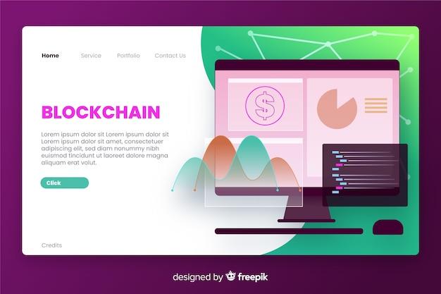 Strona docelowa firmy blockchain