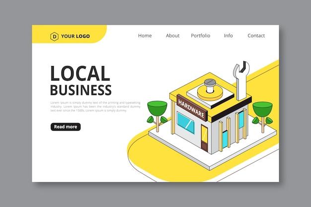 Strona docelowa firmy lokalnej