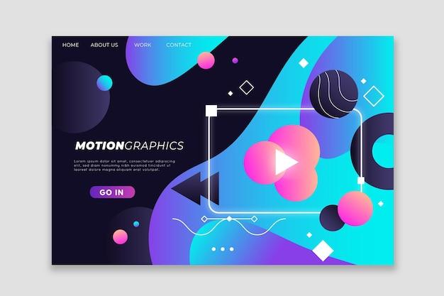 Strona docelowa flat motiongraphics