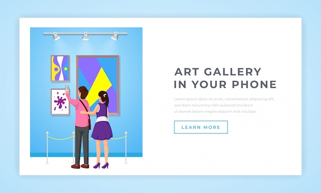 Strona docelowa galerii sztuki