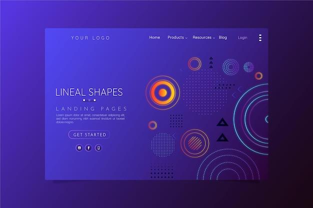 Strona docelowa geometrycznych kształtów gradientu