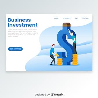 Strona docelowa inwestycji biznesowych