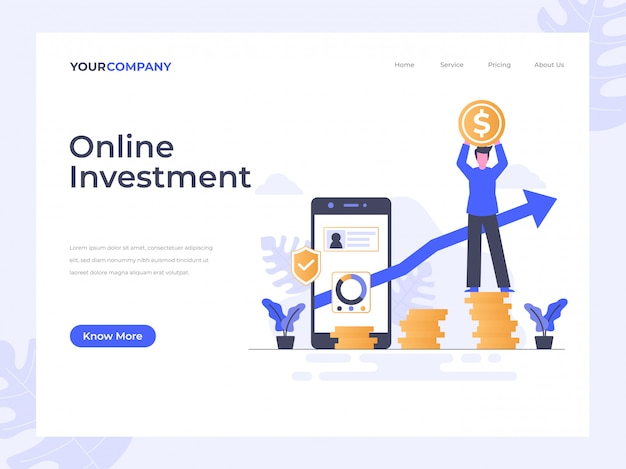 Strona docelowa inwestycji online