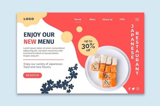 Strona docelowa japońskiej restauracji