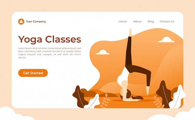 Strona docelowa jogi