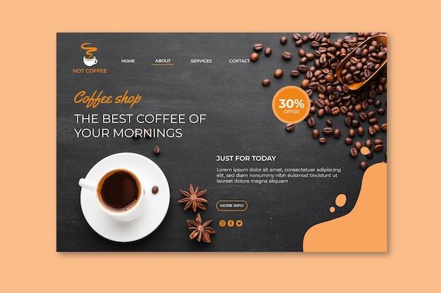 Strona docelowa kawiarni
