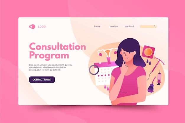 Strona docelowa kobiecych środków antykoncepcyjnych