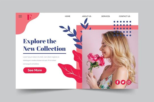 Strona docelowa kolekcji wiosennej