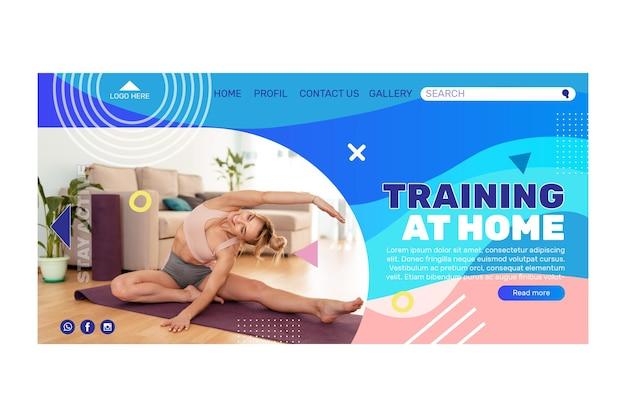 Strona docelowa koncepcji ćwiczeń w domu