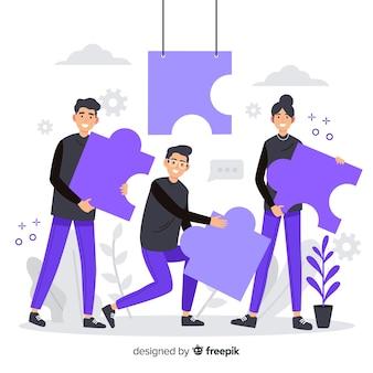 Strona docelowa koncepcji łącząca zespoły