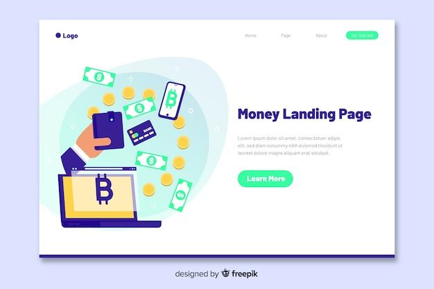 Strona docelowa koncepcji pieniędzy