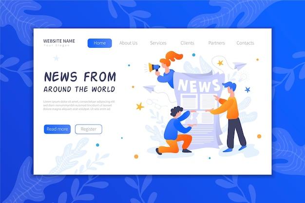 Strona docelowa koncepcji wiadomości