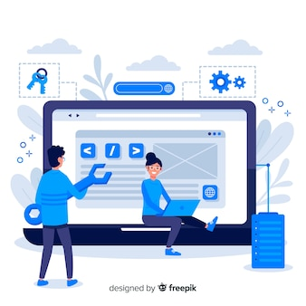 Strona docelowa konfiguracji witryny internetowej concept