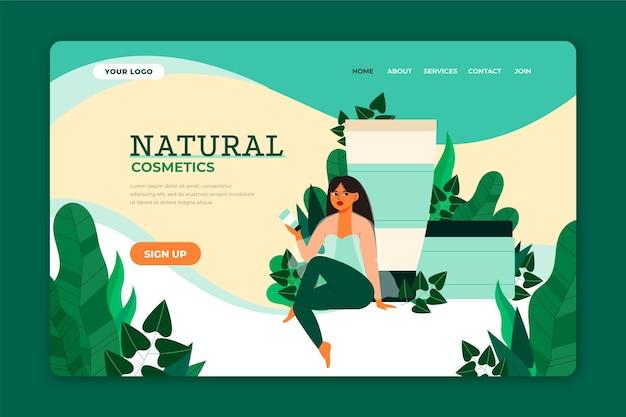 Strona docelowa kosmetyków naturalnych