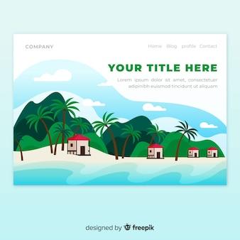 Strona docelowa krajobrazu plażowego
