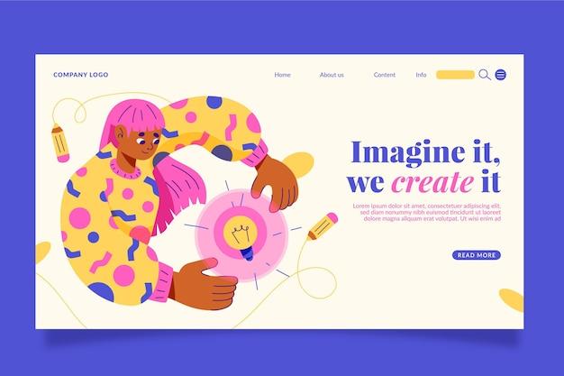 Strona docelowa kreatywnych rozwiązań