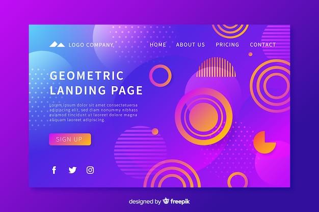 Strona docelowa kształtów geometrycznych