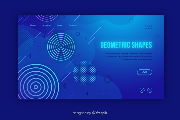 Strona docelowa kształtów gradientu geometrycznego