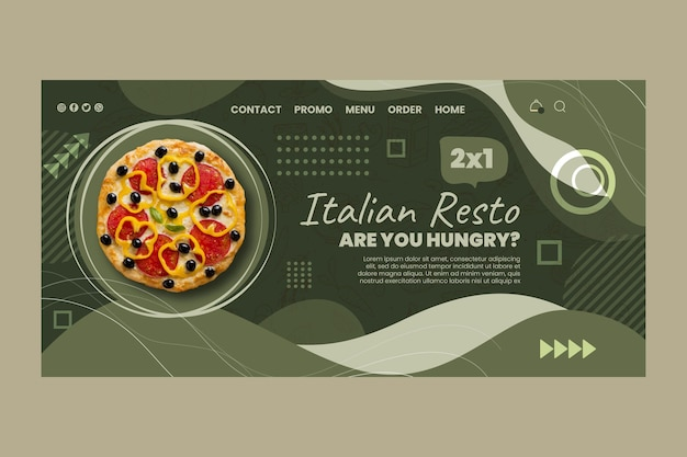 Strona docelowa kuchni włoskiej