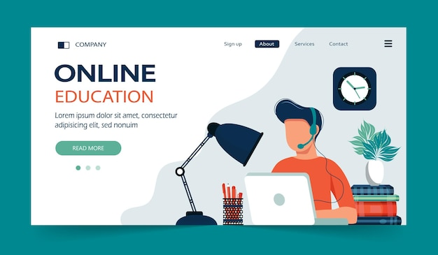 Strona docelowa kursów e-learningowych i kursów online