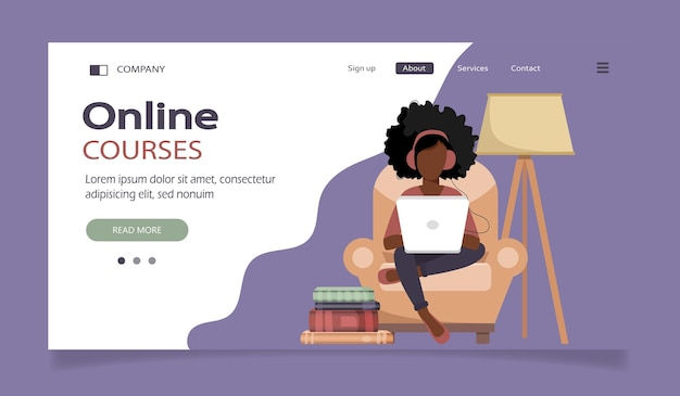 Strona docelowa kursów online na odległość