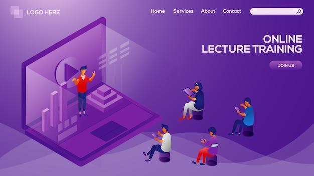 Strona docelowa kursu online