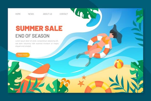 Strona docelowa letniej wyprzedaży na koniec sezonu