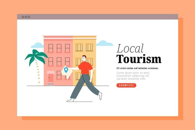Strona docelowa lokalnej turystyki